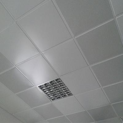 Кассетный потолок белый матовый (600х600)
