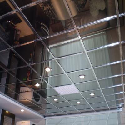 Кассетный потолок супер-хром (600х600)