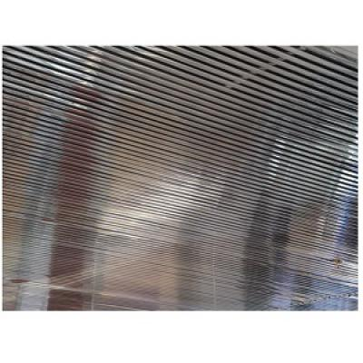 Кубообразный реечный потолок супер-хром