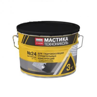 Мастика гидроизоляционная битумная ТехноНиколь №24 (МГТН) 3кг