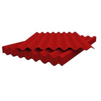 Шифер красный восьмиволновой